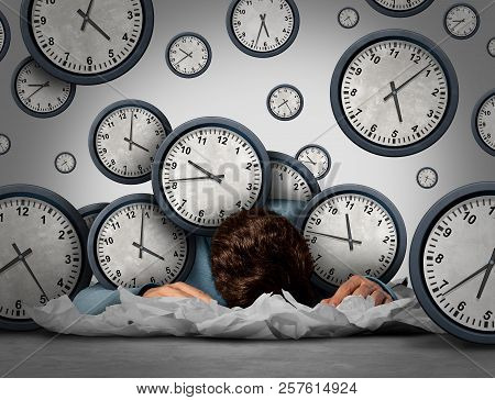 Overwork Business Stress Concept Tired At Work As An Exhausted  Worker Or Employee Overwhelmed By De