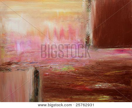 Warm Contemporary Abstract Painting
