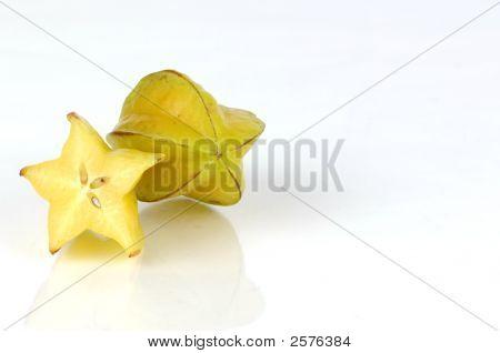 Star Fruit Cut In Half