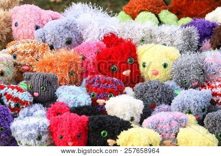 Expressive Eyes Of Soft Toys. Handmade Toys