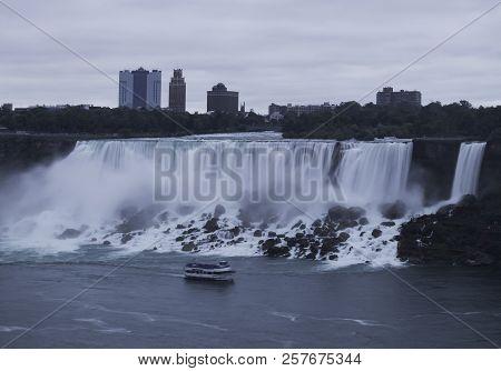The American Niagara Falls, As Viewed From Canada.