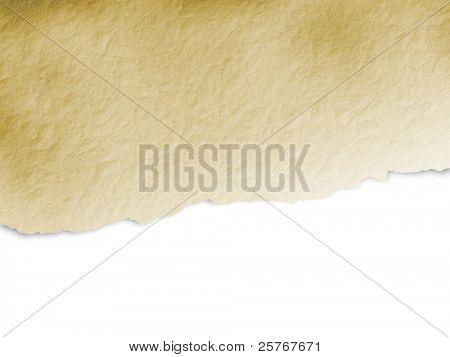 Torn beige paper background - grunge design
