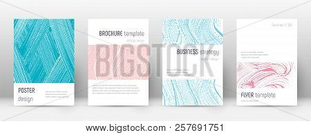 Cover page design template. Minimalistic brochure layout. Classy trendy abstract cover page. Pink and blue grunge texture background. Majestic poster. poster