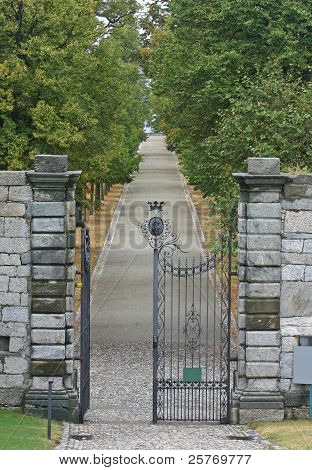 The gate is opne