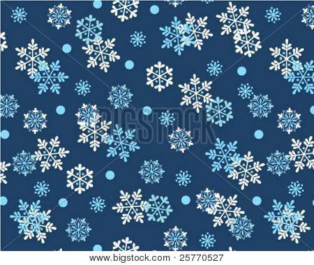Snowflakes seamless wallpaper