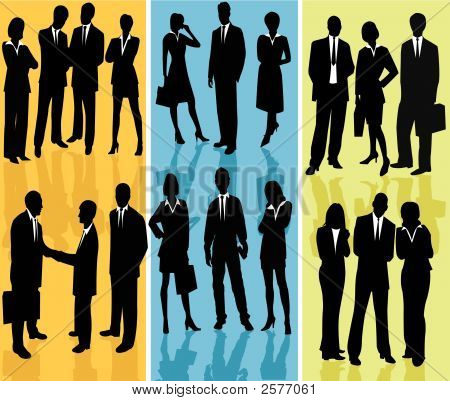 Geschäftsleute vector Silhouette illustration