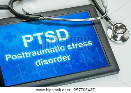 Tablet With The Text Ptsd The Display