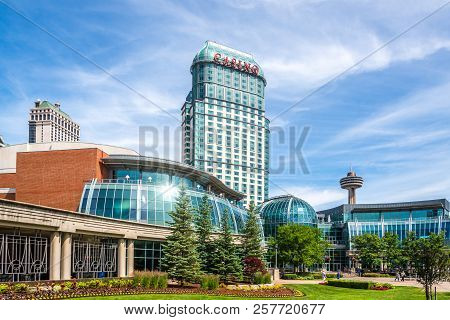 Niagara Falls,canada - June 26,2018 - In The Streets Of Niagara Falls. Niagara Falls Is City On The