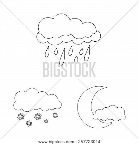 Isolated Object Of Weather And Weather Symbol. Collection Of Weather And Application Stock Vector Il