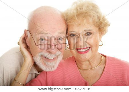 Senior Couple In Glasses