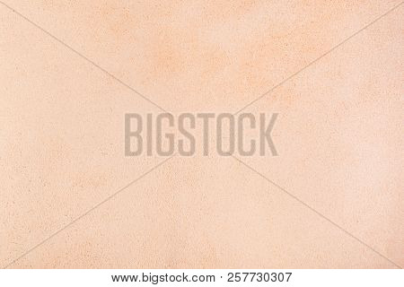 Background From Back Side Of Vegetable-tanned Leather Of Cattle