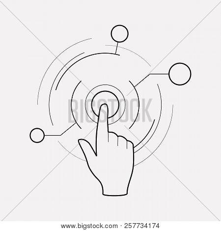 Virtual Interactive Control Icon Line Element. Vector Illustration Of Virtual Interactive Control Ic