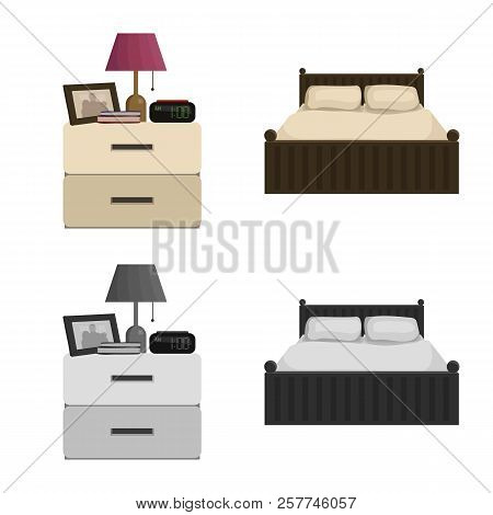Isolated Object Of Dreams And Night Symbol. Collection Of Dreams And Bedroom Stock Symbol For Web.