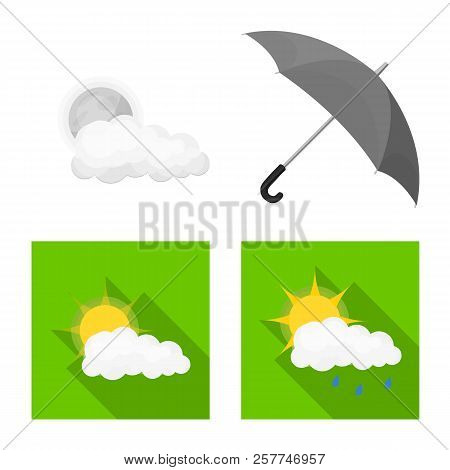 Isolated Object Of Weather And Weather Sign. Collection Of Weather And Application Vector Icon For S