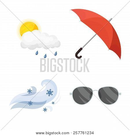 Vector Illustration Of Weather And Weather Symbol. Collection Of Weather And Application Stock Vecto