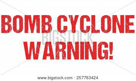 Cyclone warning hurricane weather alert typo header news logo banner design vector poster