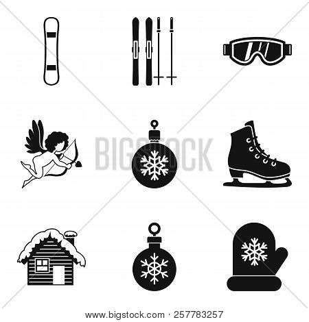 Winter Journey Icons Set. Simple Set Of 9 Winter Journey Icons For Web Isolated On White Background