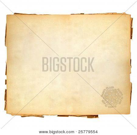 Vintage Sheet Of Paper