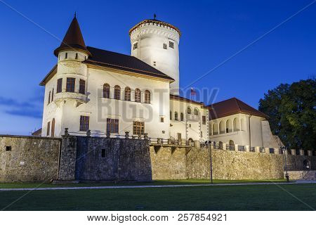 Zilina, Slovakia - July 25, 2018: Budatin Medieval Castle In North-western Slovakia, Near The City O
