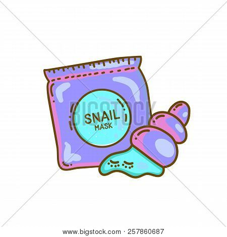 Snail Mask Cartoon Vector Photo Free Trial Bigstock