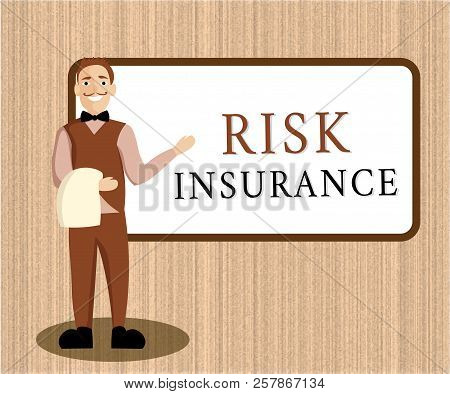 Word Writing Text Risk Insurance. Business Concept For The Possibility Of Loss Damage Against The Li