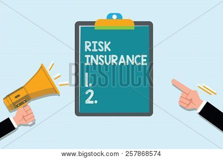 Conceptual Hand Writing Showing Risk Insurance. Business Photo Text The Possibility Of Loss Damage A