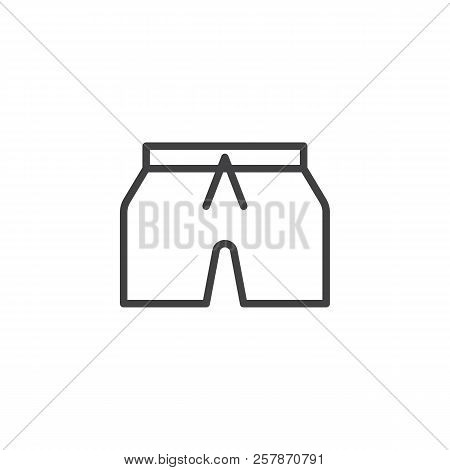 Short Pants Outline Icon. Linear Style Sign For Mobile Concept And Web Design. Shorts Line Vector Ic