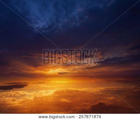 Sunset Photo . Light About The Sky .  Landscape At Sunset . Light About The Sky . Paradise Heaven .