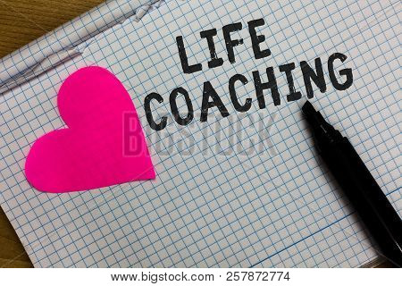 Text Sign Showing Life Coaching. Conceptual Photo Improve Lives By Challenges Encourages Us In Our C