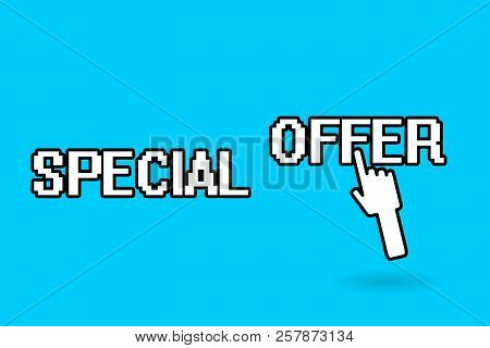 Conceptual Hand Writing Showing Special Offer. Business Photo Showcasing Selling At A Lower Or Disco