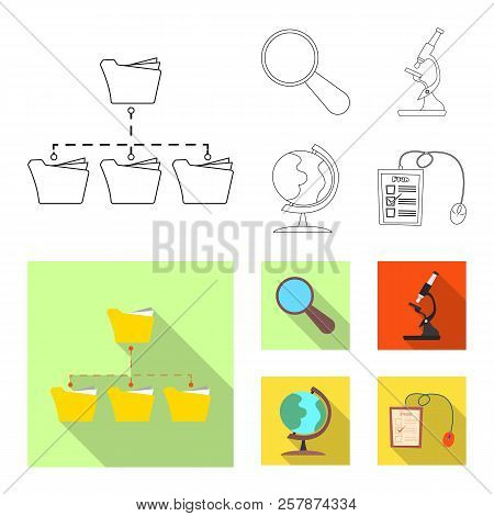 Isolated Object Of Education And Learning Logo. Set Of Education And School Vector Icon For Stock.