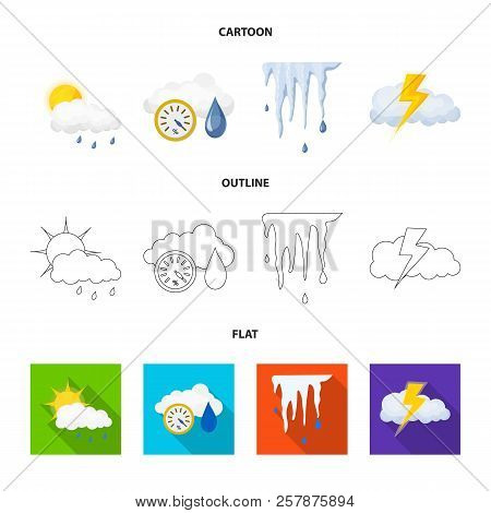 Isolated Object Of Weather And Weather Icon. Set Of Weather And Application Stock Symbol For Web.