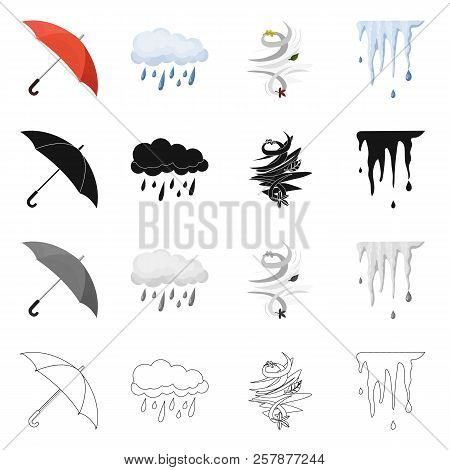 Vector Illustration Of Weather And Weather Icon. Collection Of Weather And Application Stock Symbol