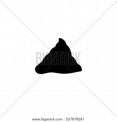 Simple Feces Icon. Black Poop Simbol. Fecals Sign.