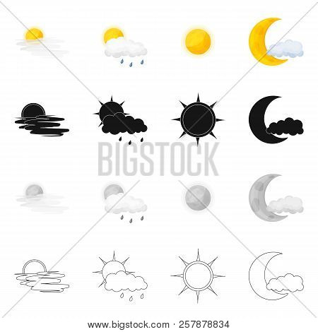 Isolated Object Of Weather And Weather Icon. Collection Of Weather And Application Vector Icon For S