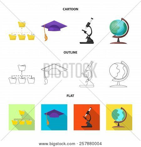 Isolated Object Of Education And Learning Symbol. Collection Of Education And School Stock Symbol Fo