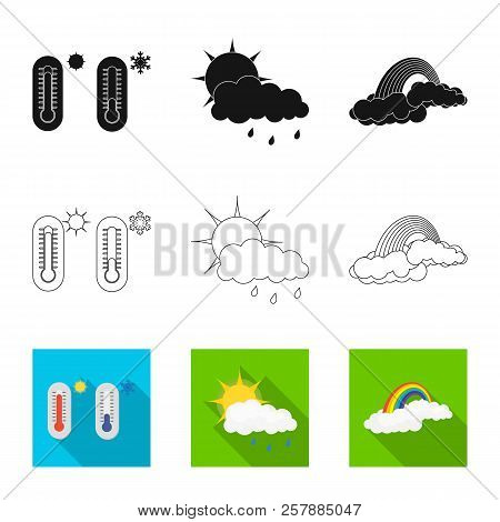 Vector Design Of Weather And Weather Logo. Set Of Weather And Application Stock Symbol For Web.
