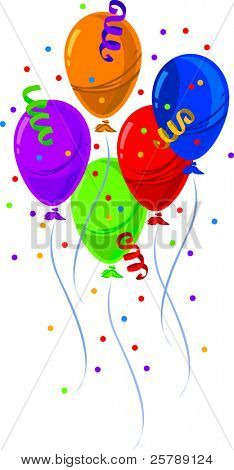 Vector Grouping of party balloons