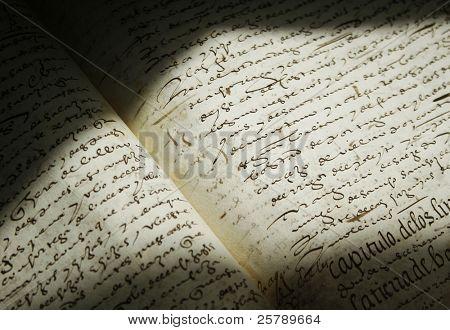 old spanish manuscript