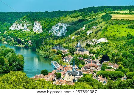 Les Andelys Commune On The Banks Of The Seine In France