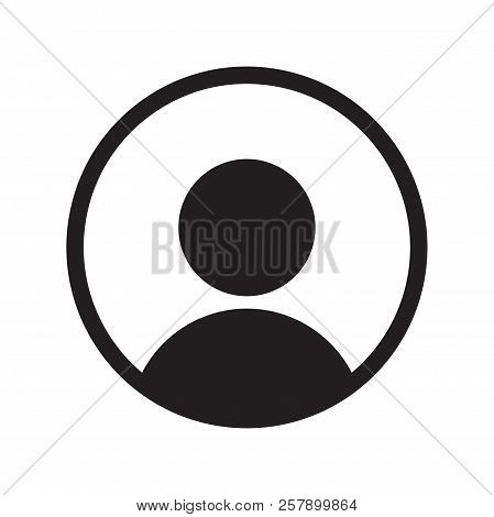 User Member Vector Icon For Ui User Interface Or Profile Face Avatar App In Circle Design