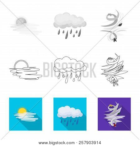 Isolated Object Of Weather And Weather Icon. Collection Of Weather And Application Stock Symbol For