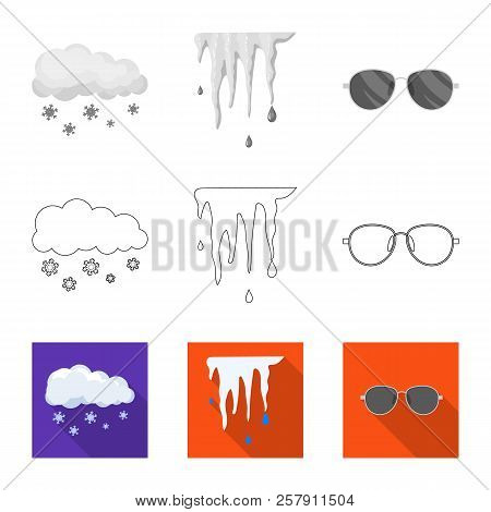 Isolated Object Of Weather And Weather Sign. Collection Of Weather And Application Stock Vector Illu