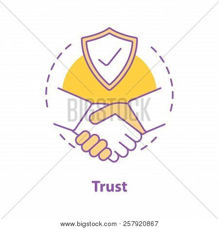 Partnership Concept Icon. Business Deal Idea Thin Line Illustration. Trust. Agreement. Vector Isolat