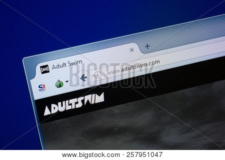 Ryazan, Russia - September 09, 2018: Homepage Of Adult Swim Website On The Display Of Pc, Url - Adul