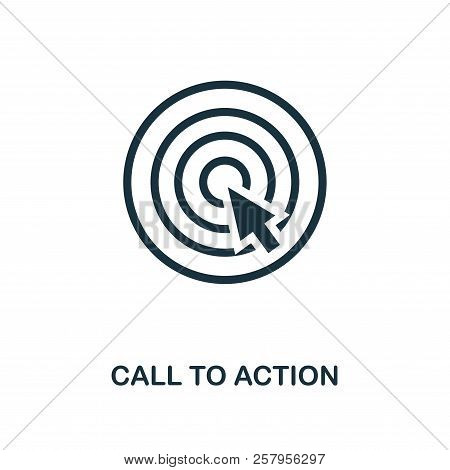 Call To Action Icon. Monochrome Style Design From E-commerce Icon Collection. Ui. Pixel Perfect Simp
