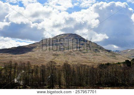 Panorama Landscape Summit Rock Of The Scotland Highlands