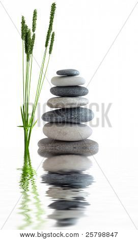 Zen stones near water