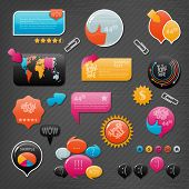 Collection of website elements poster