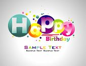 Happy Birthday abstract colorful background. poster